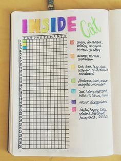 DIY Features for Your Planner or Journal! Mood tracker for the bullet journal / bujo / ideas / inspiration Journal Layout, My Journal, Journal Prompts, Journal Pages, Planner Bullet Journal, Bullet Journal Mood, Bullet Journals, Bullet Journal For Mental Health, Bullet Journal Year In Pixels