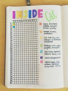 Mood tracker for the bullet journal / bujo / ideas / inspiration ...
