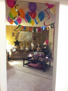 Birthday morning surprise in the apartment :)