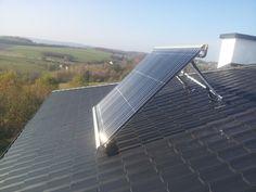 Kolektor próżniowy montaż na dachu z konstrukcją