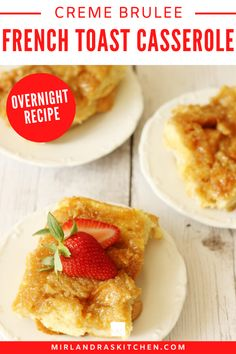 This wonderful French Toast Casserole is the perfect Christmas breakfast! You can prep everything the night before and let it bake in the morning while the kids are digging into their stockings! This Easy French Toast Casserole bakes up with it's own crème brulee layer complete with caramelized sugar! The luscious breakfast casserole can be put together the night before and baked in the morning for a no fuss breakfast! #Christmasbreakfast #Easterbrunch #overnightfrenchtoast #breakfast #easy Good Food, Yummy Food, Delicious Recipes, Easy Recipes, Easy Meals, Breakfast Recipes, Dessert Recipes, Brunch Recipes, Desserts