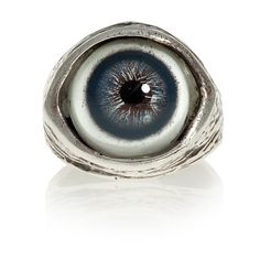 Human evileye ring in blue solid sterling silver by billyblue22, $100.00