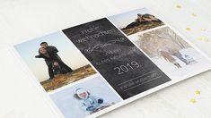 Horizontale Klappkarte 148x105 - Schwarz Polaroid Film, Christmas Cards, Weihnachten, Projects, Black