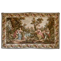 View this item and discover similar for sale at - Measures: 214 cm / 132 cm The Aubusson tapestry manufacture of the and centuries managed to compete with the royal manufacture of Gobelins tapestry Modern Tapestries, Large Tapestries, Tapestry, Victorian Paintings, Romantic Scenes, Traditional Interior, Louis Xvi, 15th Century, Textile Art