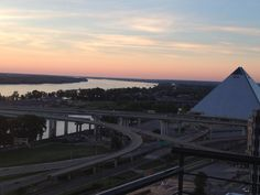 Memphis pyramid and the Mississippi river