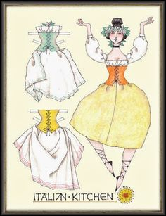 Miss Missy Paper Dolls: Italian Kitchen*1500 free paper dolls Arielle Gabriel's The International Paper Doll Society * also free Asian paper dolls The China Adventures of Arielle Gabriel my travel site * thanks to my Pinterest paper doll pals *