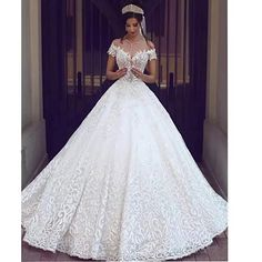 Chady Sexy Off Shoulder Lace Wedding Gown | Home