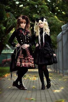 Gothic Lolita. A Lolita & a Brolita.