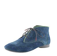 GUA 63 GUAD Think 84280-92 Damen Schnür-Booties softiges bleu-blau