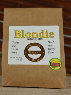 For those of you with #grain, #gluten, #nut or #dairy dietary needs.  The Brown and Blond Bakery : Blondie Baking Mix - this is a versatile DIY baking mix!