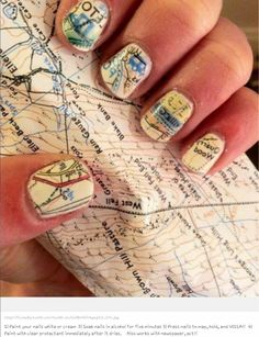 """""""Maps & Roadways"""" Jamberry Nail Wraps, created in our Nail Art Studio! Upload any image & create Jamberrys that match YOUR personality! Certain restrictions apply. For more information, www.taraeman.jamberrynails.net"""