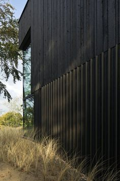 View full picture gallery of Villa Meijendel Black Cladding, Timber Cladding, Exterior Colors, Exterior Design, Interior And Exterior, Villa, Wooden Facade, Timber Architecture, House Cladding