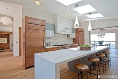 Stunning kitchen in a San Francisco home.