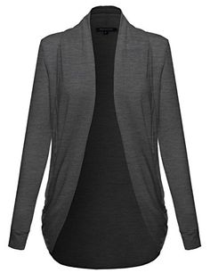 Everyday Lounge Draped Cardigan Shawl Charcoal L Size * Details can be found by clicking on the image.