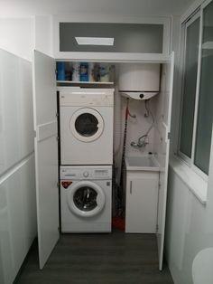 Mueble para lavadora y secadora cocinas pinterest - Mueble lavadora secadora ...