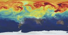 NASA simulation shows a year in the life of Earth's NASA scientists have created an ultra-high-resolution computer model that gives staggering views of how carbon dioxide swirls around Mother Earth — and the heavy toll it takes on her Breathe, Kindergarten, About Climate Change, Greenhouse Gases, Environmental Issues, Our Planet, Planet Earth, Global Warming, The Life
