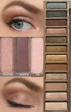 Using Urban Decay Naked palette.
