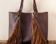 Wild Wild West Tote//Fringe Tote/Western Tote/Bohemian Tote/ Leather Fringe Bag/ Oversize Tote/ Boho Bag