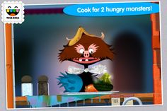 Good Free App of the Day: Toca Kitchen Monsters! - Smart Apps For Kids Learning Games For Preschoolers, Learning Apps, Preschool Learning, Educational Apps For Kids, App Of The Day, Great Apps, Free Preschool, Free Iphone, Cooking Steak