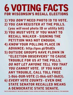 It's Recall Scott Walker Day! 6 Voting Facts, 10 numbers you need to know