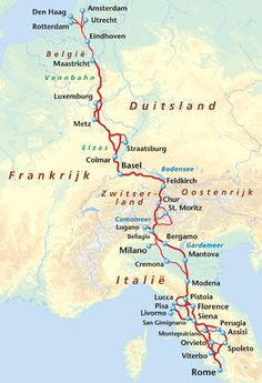 Fietsgids: Mooiste fietsroute naar Rome