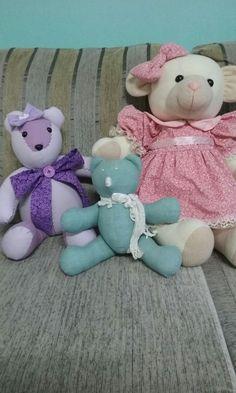 Ursos confeccionados em tecido 100%algodão por allu artes