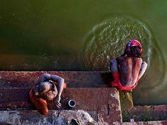 Varanasi, India  Photograph by Avik Haldar, My Shot  Two sadhus bathe in the River Ganges in Benaras (Varanasi), India.National Geographic