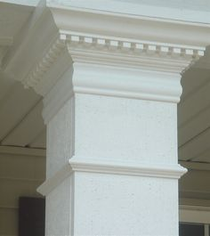 up-close column detail