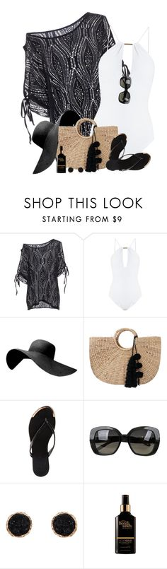 """""""Let's head to the Bahamas 🌞🌺🍍🍹🌴"""" by cindycook10 ❤ liked on Polyvore featuring Melissa Odabash, JADEtribe, Charlotte Russe, Bottega Veneta and Humble Chic"""