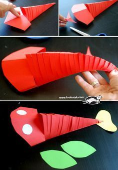 This is such an easy and cool craft to do! This moving paper fish is a project that both kids and adults will have a fun time making! (How To Make Clay Projects) Fish Crafts, Crafts To Do, Crafts For Kids, Arts And Crafts, Projects For Kids, Diy For Kids, Art Projects, Construction Paper Crafts, Art N Craft