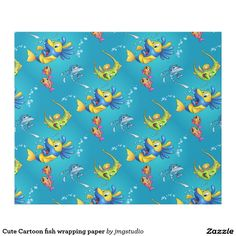 Cute Cartoon fish wrapping paper
