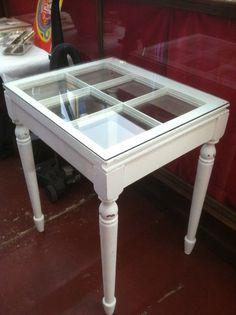 Window Sash Tables by simplyshabbyshop on Etsy, $75.00