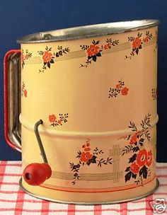Vintage flour sifter