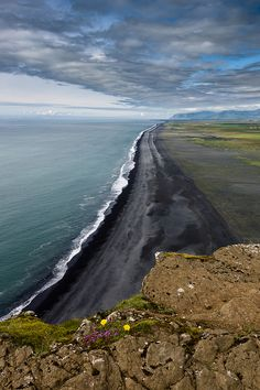 Black Sand Beach in southern Iceland