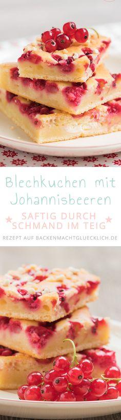 Einfacher, schneller Blechkuchen mit Johannisbeeren, der sich gut vorbereiten und auch einfrieren lässt. Durch den Schmand wird der Rührteig des Johannisbeerkuchens besonders saftig. Der Schmandkuchen schmeckt auch mit Rhabarber oder Kirschen gut.