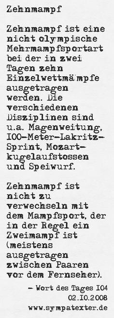 Zehnmampf - www.sympatexter.de