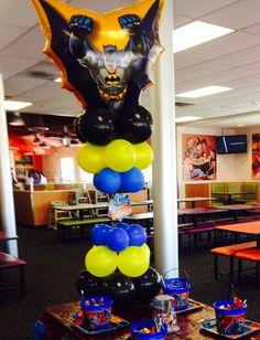 Batman Balloon Decorations for my son Adolfo's 6th Birthday Party.