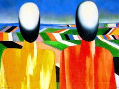 Peasants by @artistmalevich #suprematism