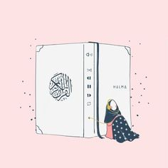 No photo description available. Quran Wallpaper, Islamic Quotes Wallpaper, Hijab Drawing, Conceptual Drawing, Islamic Cartoon, Anime Muslim, Hijab Cartoon, Islamic Girl, Islamic Pictures