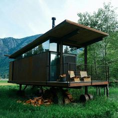 23 Best Tiny Houses - 2018 Edition - The Tiny House Cabin Design, Tiny House Design, Cabins In The Woods, House In The Woods, Tyni House, Metal Siding, Best Tiny House, Tiny Cabins, Container Design