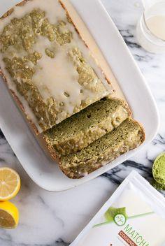 Vegan Matcha Pound Cake with Lemon Icing   by The Frosted Vegan made with Aiya's Cooking Grade Matcha   aiyamatcha.com #matcha #dessert