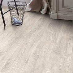 Sol stratifié Classic Plus  -  Chêne vieilli patiné blanc - Lapeyre