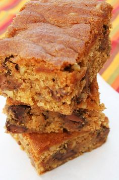 Chocolate Chip Pumpkin Bars - these look good!