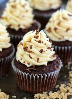 Chocolate Brown Sugar Cupcakes