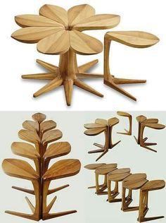 Modular Leaves Multi Purpose Salon, Wood Furniture, Furniture Design,  Unique Furniture, Leaf