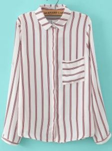 Fashion Ladies' elegant striped print chiffon blouses vintage turn down collar long sleeve shirts casual loose brand tops Jeans Skinny, Blouse Vintage, Blouse Online, Stripe Print, Shirt Dress, Outfits, Lady, Long Sleeve, Casual