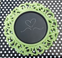 Chalkboard Ornate Round Resin Wall Frame by SecondChanceUpcycles, $40.00