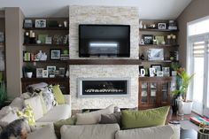 """We can design your custom fireplaces and wall units at """"Homescapes by Lynn"""" and provide the products to get the job done!"""