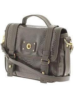 Holy gorgeous. Marc by Marc Jacobs Totally Turnlock Python Shine Messenger