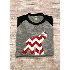 Alabama Crimson Tide Appliqued Raggedy Elephant 3/4 T-Shirt ($35) ❤ liked on Polyvore featuring tops, t-shirts, grey, women's clothing, raglan tee, 3/4 sleeve shirts, baseball tee, gray shirt and grey t shirt